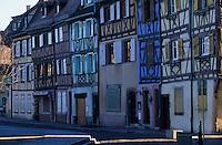 Europe/France/Alsace/68/Haut-Rhin/Colmar : Maisons quai de la Poissonnerie - La petite Venise