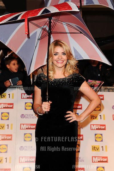 Holly Willoughby arriving for the 2012 Pride of Britain Awards, at the Grosvenor House Hotel, London. 29/10/2012 Picture by: Steve Vas / Featureflash