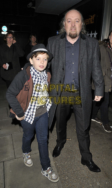 LONDON, ENGLAND - FEBRUARY 27: Dax Bailey &amp; Bill Bailey attend the &quot;War Horse&quot; NT Live gala performance, The New London Theatre, Drury Lane, on Thursday February 27, 2014 in London, England, UK.<br /> CAP/CAN<br /> &copy;Can Nguyen/Capital Pictures