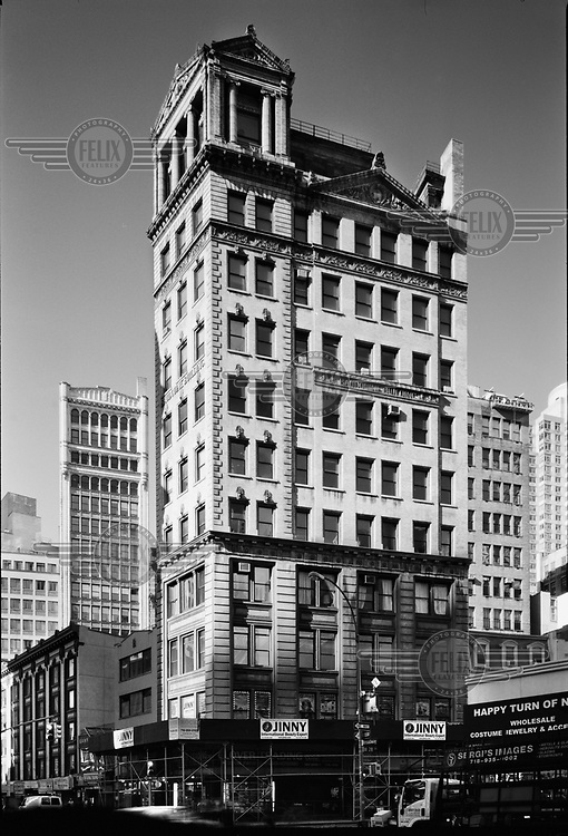 The Baudouine Building, a historic skyscraper, built at the end of the 19th century on Broadway and 28th Street.