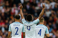 Daniel Sturridge (Liverpool) of England celebrates scoring the opening goal during the FIFA World Cup qualifying match between England and Malta at Wembley Stadium, London, England on 8 October 2016. Photo by David Horn / PRiME Media Images.