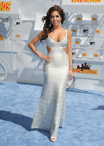 LOS ANGELES, CA - APRIL 12:  Farrah Abraham at the 2015 MTV Movie Awards at the Nokia Theatre at L.A. Live on April 12, 2015 in Los Angeles, California. SkPG/MediaPunch