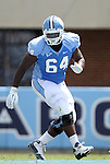 01 September 2012: UNC's Jonathan Cooper. The University of North Carolina Tar Heels played the Elon University Phoenix at Kenan Memorial Stadium in Chapel Hill, North Carolina in a 2012 NCAA Division I Football game. UNC won the game 62-0.