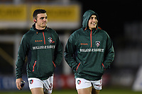 Leicester Tigers players look on prior to the match. Anglo-Welsh Cup match, between Bath Rugby and Leicester Tigers on November 10, 2017 at the Recreation Ground in Bath, England. Photo by: Patrick Khachfe / Onside Images
