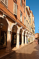 Shopping Arcades of Corfu Old Town, Greek Ionian Islands