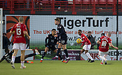2nd February 2019, Hope CBD Stadium, Hamilton, Scotland; Ladbrokes Premiership football, Hamilton Academical versus Dundee; Darian MacKinnon of Hamilton Academical scores for 1-1 in the 90th minute