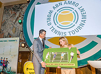 Rotterdam, Netherlands, 09 Februari, 2018, City Hall, Official Draw,    Ahoy director Jolanda Jansen and Richard Krajicek<br /> Photo: Tennisimages/Henk Koster