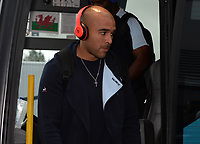 Racing 92 Simon Zebo arrives ahead of kick off <br /> <br /> Photographer Ian Cook/CameraSport<br /> <br /> European Rugby Champions Cup - Scarlets v Racing 92 - Saturday 13th October 2018 - Parc y Scarlets - Llanelli<br /> <br /> World Copyright © 2018 CameraSport. All rights reserved. 43 Linden Ave. Countesthorpe. Leicester. England. LE8 5PG - Tel: +44 (0) 116 277 4147 - admin@camerasport.com - www.camerasport.com