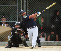 Auckland's Bernard Hale bats. Auckland 39ers v Wellington Lancers -  National League Softball Championship finals at Fraser Park, Wellington, New Zealand on Sunday 2 February 2009. Photo: Dave Lintott / lintottphoto.co.nz