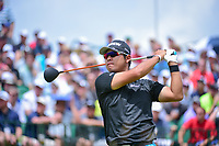 Hideki Matsuyama (JPN) watches his tee shot on 1 during Saturday's round 3 of the 117th U.S. Open, at Erin Hills, Erin, Wisconsin. 6/17/2017.<br /> Picture: Golffile | Ken Murray<br /> <br /> <br /> All photo usage must carry mandatory copyright credit (&copy; Golffile | Ken Murray)