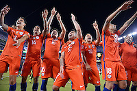 East Rutherford, NJ - Sunday June 26, 2016: Chile celebrates during a Copa America Centenario finals match between Argentina (ARG) and Chile (CHI) at MetLife Stadium.