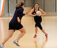 17.09.2013 Silver Ferns Joline Henry in action during the Silver Ferns training in Auckland. Mandatory Photo Credit ©Michael Bradley.