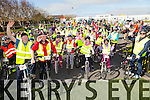 At the start of the  St Brendan's NS FENIT Coastal Cycle on Saturday