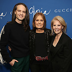 "Jordan Roth, Gloria Steinem and Daryl Roth attends the Opening Night Performance of ""Gloria: A Life"" on October 18, 2018 at the Daryl Roth Theatre in New York City."