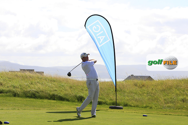 Michael Reddan (Limerick) on the 1st tee during the Munster Final of the AIG Senior Cup at Tralee Golf Club, Tralee, Co Kerry. 12/08/2017<br /> <br /> Picture: Golffile | Thos Caffrey<br /> <br /> All photo usage must carry mandatory copyright credit     (&copy; Golffile | Thos Caffrey)