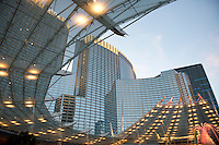 Architecture at the Aria and City Center. Las Vegas, Nevada, USA