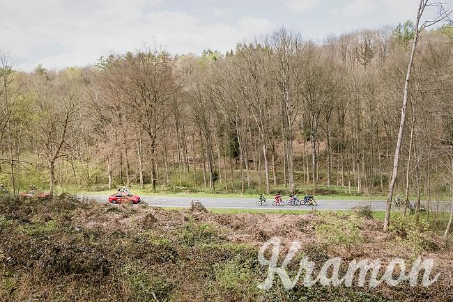early breakaway group<br /> <br /> 81st La Fl&egrave;che Wallonne (1.UWT)<br /> One Day Race: Binche &rsaquo; Huy (200.5km)