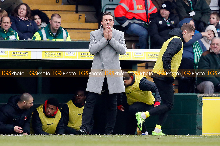 O's manager Danny webb during Yeovil Town vs Leyton Orient, Sky Bet EFL League 2 Football at Huish Park on 11th February 2017