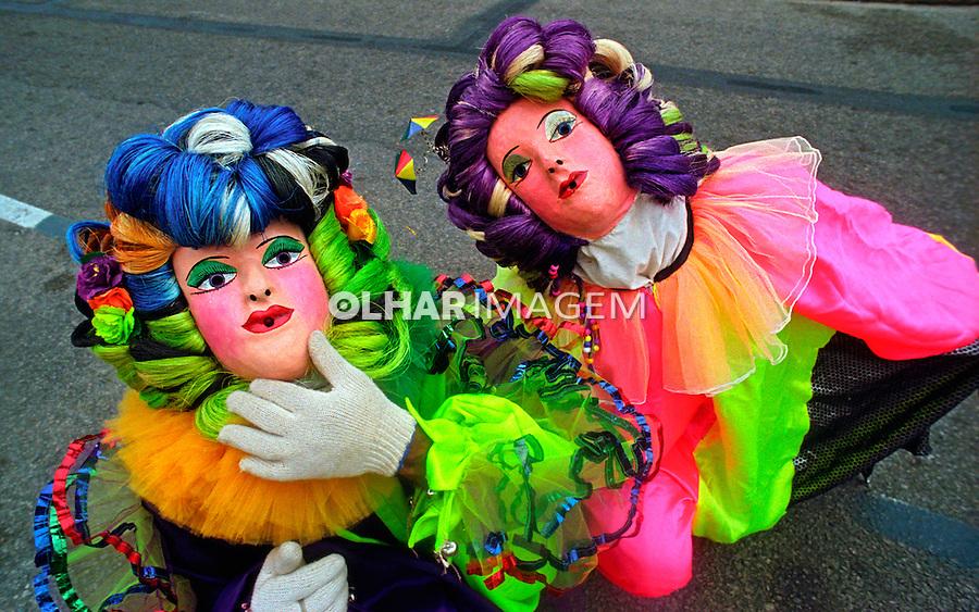 Papangus no carnaval de rua. Olinda. Pernambuco. 2001. Foto de Catherine Krulik.