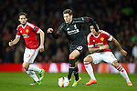 Adam Lallana of Liverpool during the UEFA Europa League match at Old Trafford. Photo credit should read: Philip Oldham/Sportimage