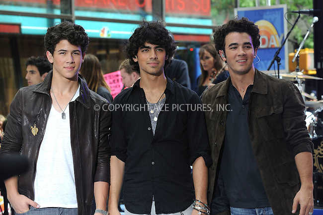 WWW.ACEPIXS.COM . . . . . ....June 19 2009, New York City....Nick Jonas, Joe Jonas, and Kevin Jonas of The Jonas Brothers perform on NBC's 'Today' at Rockefeller Center on June 19, 2009 in New York City.....Please byline: KRISTIN CALLAHAN - ACEPIXS.COM.. . . . . . ..Ace Pictures, Inc:  ..tel: (212) 243 8787 or (646) 769 0430..e-mail: info@acepixs.com..web: http://www.acepixs.com
