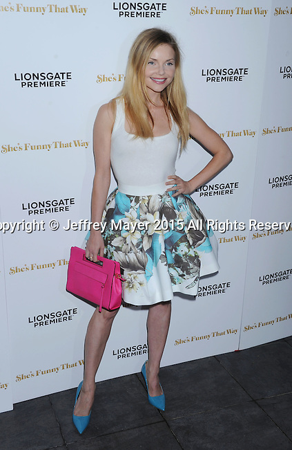 LOS ANGELES, CA - AUGUST 19: Actress Izabella Miko arrives at the Premiere Of Lionsgate Premiere's 'She's Funny That Way' at Harmony Gold on August 19, 2015 in Los Angeles, California.