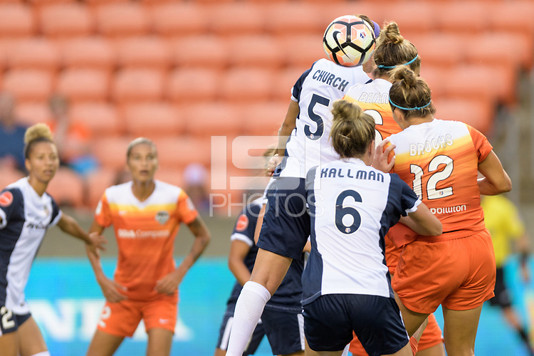 Houston, TX - Saturday July 15, 2017: Whitney Church during a regular season National Women's Soccer League (NWSL) match between the Houston Dash and the Washington Spirit at BBVA Compass Stadium.
