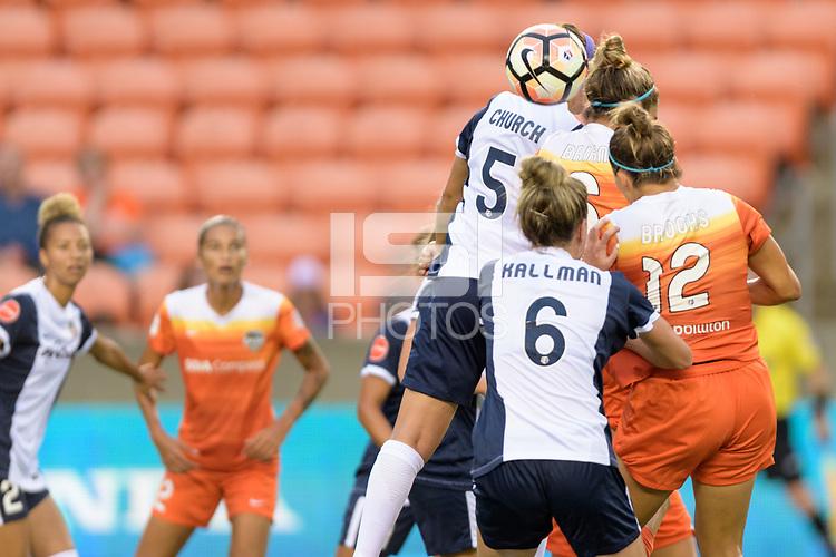 Houston, TX - Saturday July 15, 2017: Whitney Church during a regular season National Women's Soccer League (NWSL) match between the Houston Dash and the Washington Spirit at BBVA Compass Stadium.