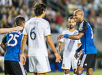 CARSON, CA - July 17, 2015: The LA Galaxy vs San Jose Earthquakes match at the StubHub Center in Carson, California. Final score, LA Galaxy 5, San Jose Earthquakes 2.