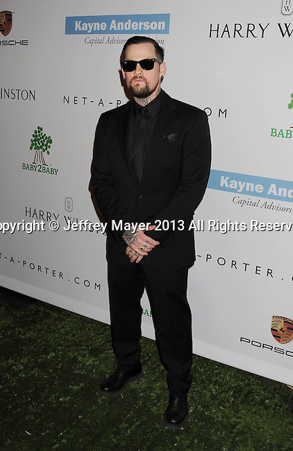 CULVER CITY, CA- NOVEMBER 09: Musician/singer Benji Madden arrives at the 2nd Annual Baby2Baby Gala at The Book Bindery on November 9, 2013 in Culver City, California.