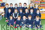 Faha NS junior infants on Monday front row l-r: Kakina Pouli, Cillian Scannell, Adam Murphy, Daniel Leslie, Patrick O'Connor, Middle row: Roisin Howe, Ella Mitchell, Esmee van Bentham, Tara O'Connell, Catherine O'Driscoll, Maebh Moloney. Back row: Sinead Curran Padraig Kimmage, Roisin Mannix, Matthew Lucey, Dara McCarthy, Kayla de Groot and Roan Clifford
