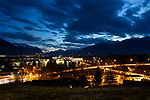 Gamprin-Bendern, Liechtenstein at dusk.<br /> <br /> Foto: Paul J. Trummer