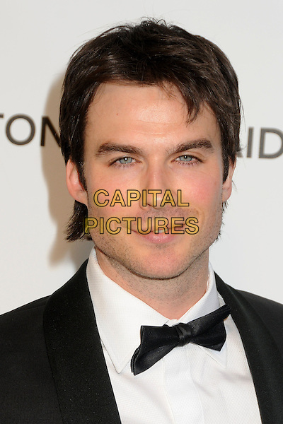 Ian Somerhalder.21st Annual Elton John Academy Awards Viewing Party held at West Hollywood Park, West Hollywood, California, USA..February 24th, 2013.oscars headshot portrait black white bow tie tuxedo.CAP/ADM/BP.©Byron Purvis/AdMedia/Capital Pictures.