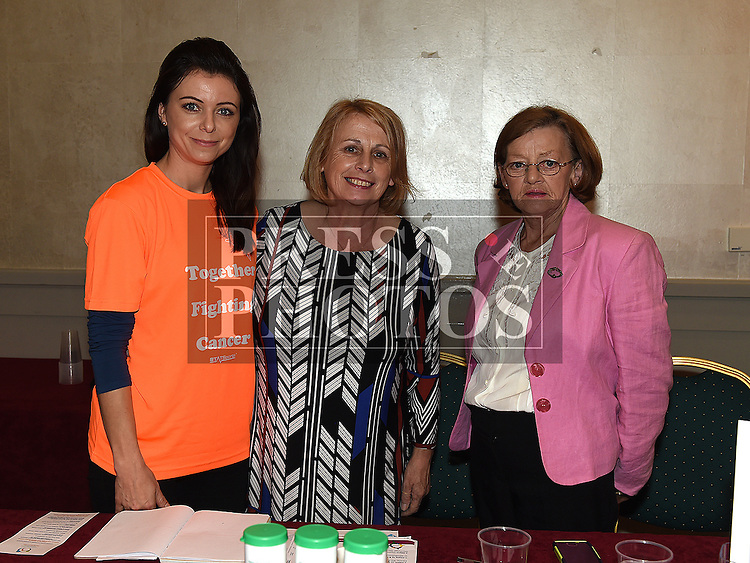jana Strakova, Winifred Flood and Mary meade from the Louth Family Carers Support Group at the NECRET Cancer day at City North Hotel. Photo:Colin Bell/pressphotos.ie