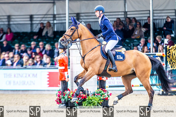 Day 5. Royal Windsor Horse Show. Windsor. Berkshire. UK.  Showjumping. Palm Speed Stakes. CSI5*. Daniel Deusser riding Killer Queen VDM. GER.13/05/2018. ~ MANDATORY Credit Elli Birch/Sportinpictures - NO UNAUTHORISED USE - 07837 394578