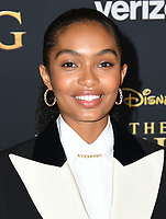 "09 July 2019 - Hollywood, California - Yara Shahidi. Disney's ""The Lion King"" Los Angeles Premiere held at Dolby Theatre. <br /> CAP/ADM/BT<br /> ©BT/ADM/Capital Pictures"