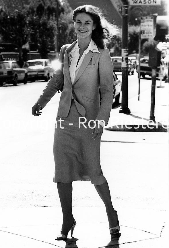 Christie Hefner, (daughter of Hugh) on the street in San Francisco. (photo/Ron Riesterer)