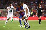52e Trofeu Joan Gamper.<br /> FC Barcelona vs Chapecoense: 5-0.<br /> Lucas Mineiro vs Luis Suarez.