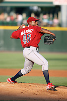 July 1st 2008:  Starting pitcher Les Walrond of the Lehigh Valley IronPigs, Class-AAA affiliate of the Philadelphia Phillies, during a game at Frontier Field in Rochester, NY.  Photo by:  Mike Janes/Four Seam Images