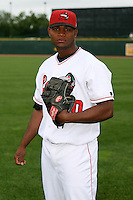 June 17th 2008:  Miguel Ramirez of the Great Lakes Loons, Class-A affiliate of the Los Angeles Dodgers, during the Midwest League All-Star Game at Dow Diamond in Midland, MI.  Photo by:  Mike Janes/Four Seam Images
