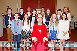 Pupils from Booheshill making their confirmation in St James Church Glenbeigh on Monday were front l-r; Aaron Broderick, Michelle O'Connor, Bishop Ray Browne, Orla Dunphy, Marie O'Shea, back l-r; Jack McGillicuddy, Sean O'Connor, Fr. Jerry Keane, Leah foley, Michelle Doyle, Shauna Murphy, Stephen Breen & Eileen Magann.