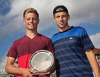 The Hague, Netherlands, 31 July, 2016, Tennis,  The Hague Open, Doubles Final: Runners up Tallon Griekspoor (NED) / Tim van Rijthoven (NED) (L)<br /> Photo: Henk Koster/tennisimages.com