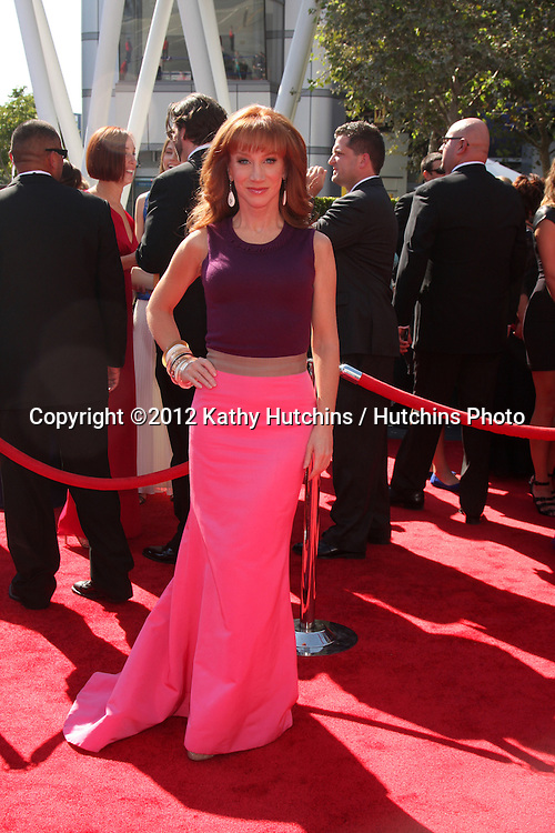 LOS ANGELES - SEP 15:  Kathy Griffin arrives at the  Primetime Creative Emmys 2012 at Nokia Theater on September 15, 2012 in Los Angeles, CA