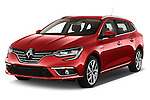 2016 Renault Megane-Grandtour Bose-Edition 5 Door wagon Angular Front stock photos of front three quarter view