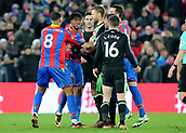 9th December 2017, Selhurst Park, London, England; EPL Premier League football, Crystal Palace versus Bournemouth; Wilfried Zaha of Crystal Palace reacts towards Lewis Cook of Bournemouth after Cook brought him down during a Palace attack