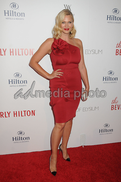 21 August 2015 - Beverly Hills, California - Natasha Henstridge. The Beverly Hilton 60th Anniversary Party held at The Beverly Hilton Hotel. Photo Credit: Byron Purvis/AdMedia