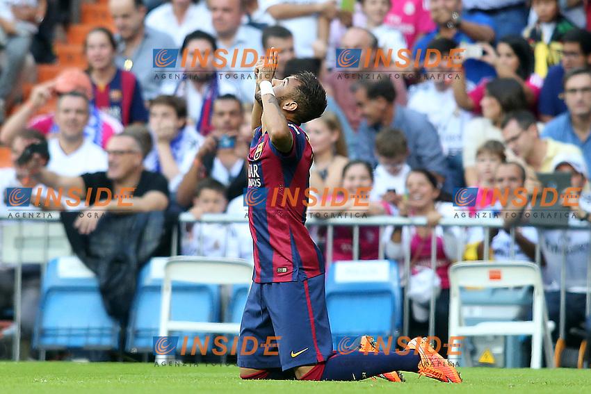 FC Barcelona's Neymar Santos Jr celebrates goal during La Liga match.October 25,2014. (ALTERPHOTOS/Acero) <br /> Clasico<br /> Foto Insidefoto