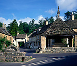 A01XE9 Market cross square Castle Combe Wiltshire England