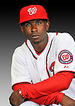 25 February 2011: Washington Nationals' outfielder Nyjer Morgan poses for his Photo Day portrait at Space Coast Stadium in Viera, Florida. Mandatory Credit: Ed Wolfstein Photo