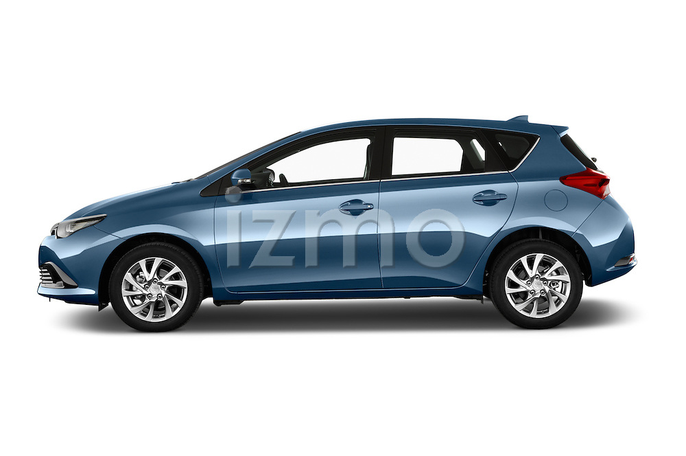 Car Driver side profile view of a 2015 Toyota Auris Dynamic 5 Door Hatchback Side View